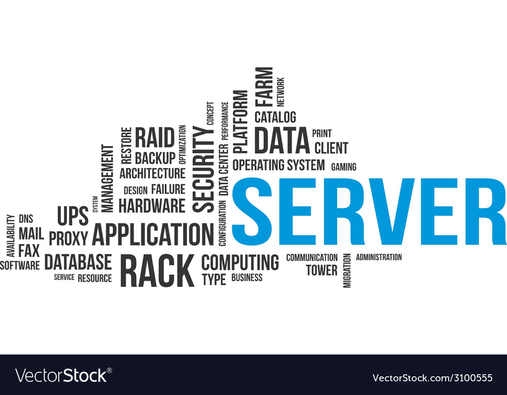 Word cloud server vector | Price: 1 Credit (USD $1)