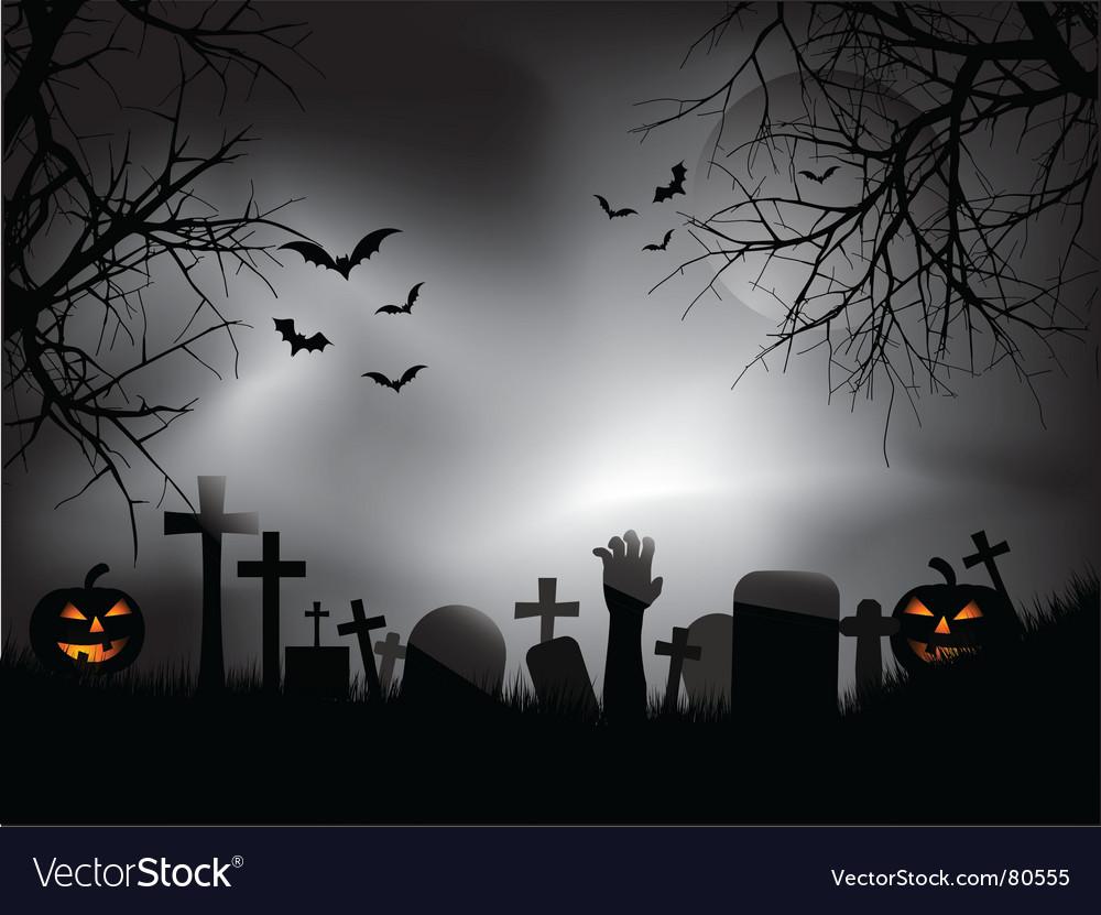 Zombie hand in graveyard vector | Price: 1 Credit (USD $1)