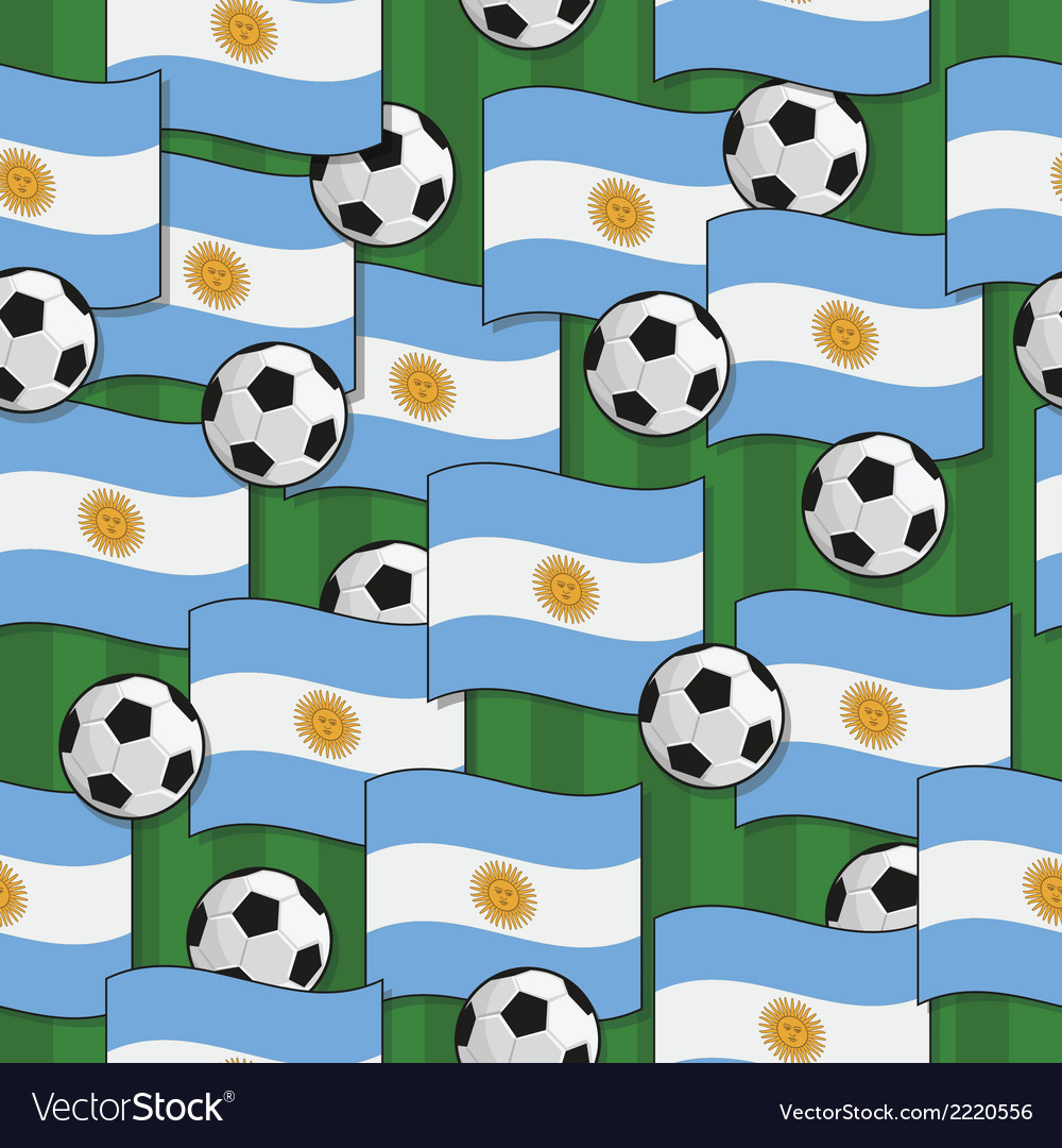 Argentina football pattern vector | Price: 1 Credit (USD $1)