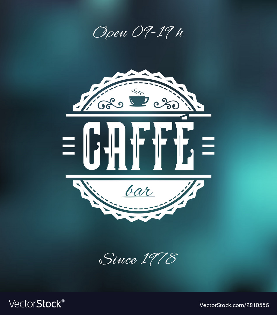 Caffe bar label vector | Price: 1 Credit (USD $1)