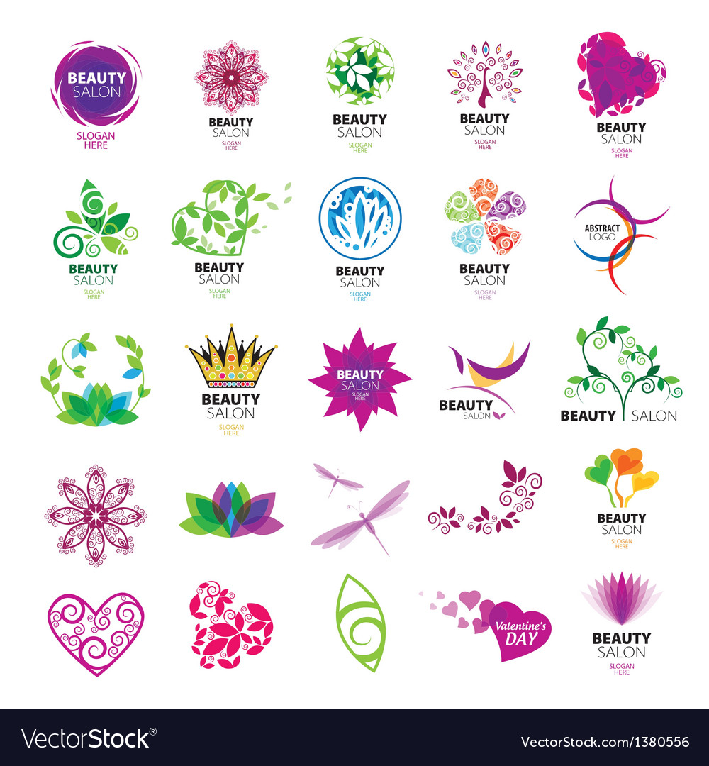 Collection of logos for beauty salons vector | Price: 1 Credit (USD $1)