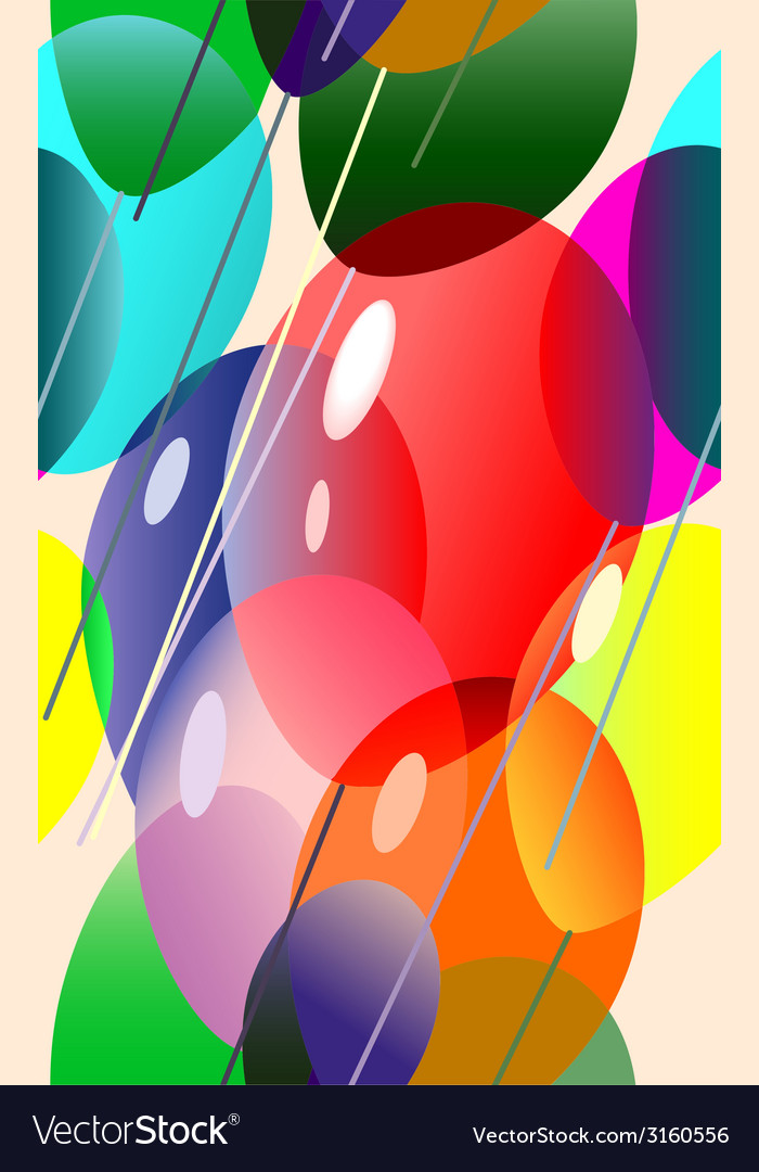 Colorful balloons flying vector | Price: 1 Credit (USD $1)