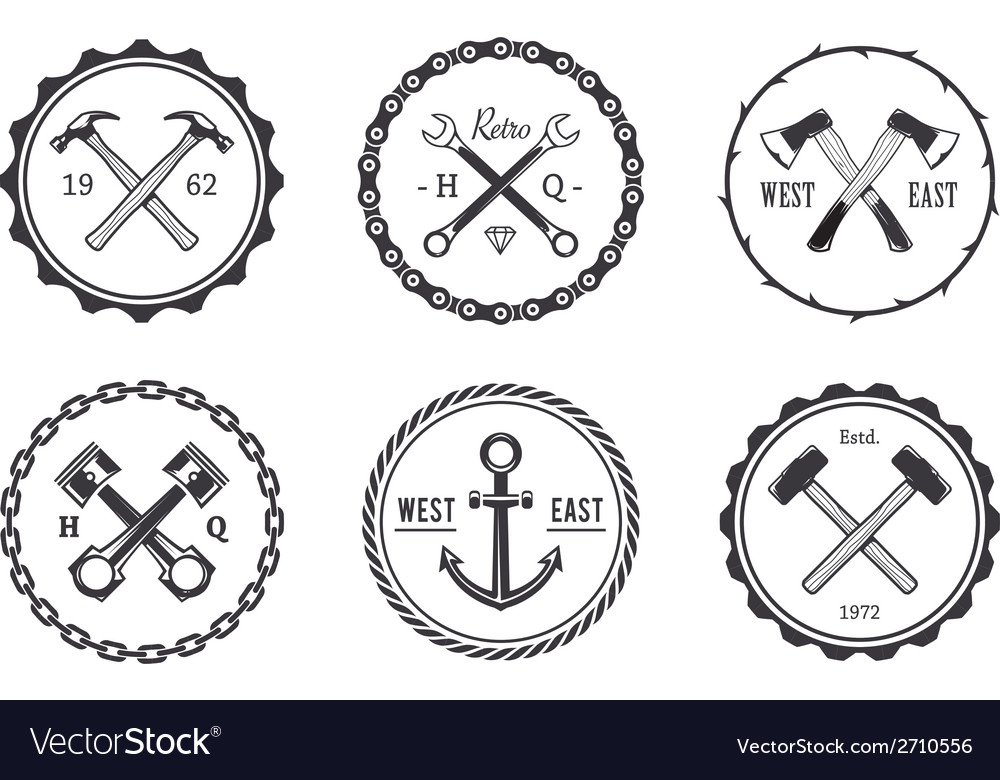 Crafts emblems 2 vector | Price: 1 Credit (USD $1)
