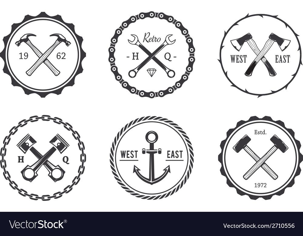 Crafts emblems 2 vector | Price: 1 Credit (USD $1)
