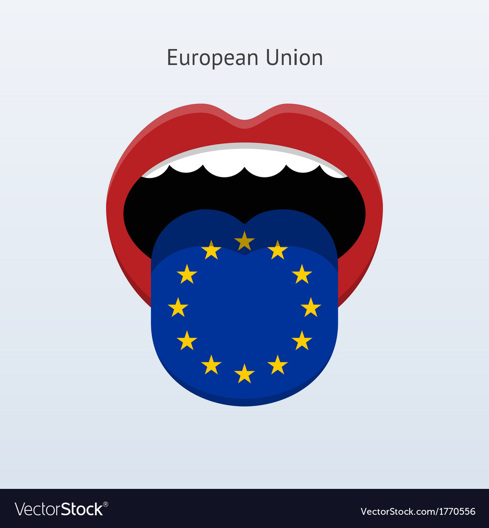 European union language abstract human tongue vector | Price: 1 Credit (USD $1)