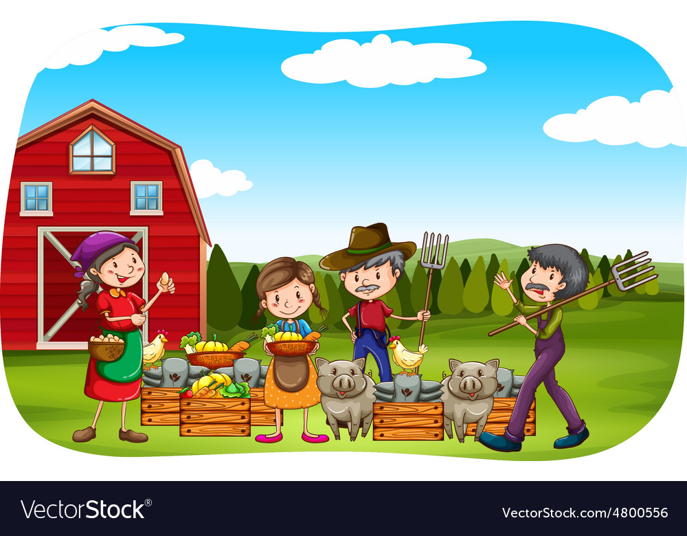 Farmers vector | Price: 3 Credit (USD $3)