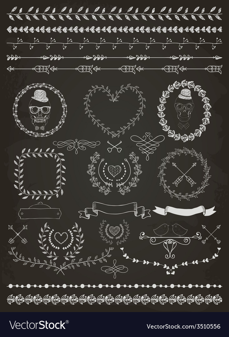 Hand-drawn seamless borders and design elements vector   Price: 1 Credit (USD $1)