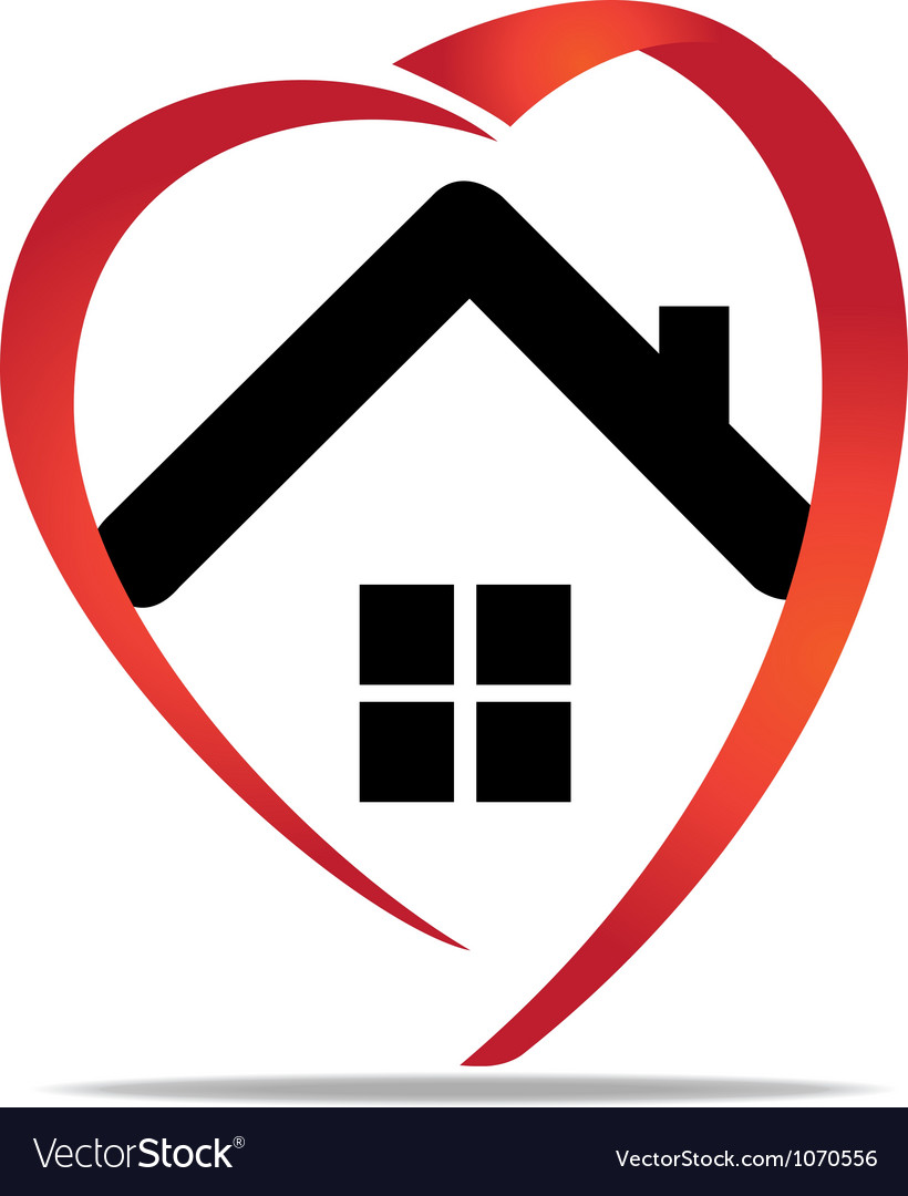 House heart logo vector | Price: 1 Credit (USD $1)