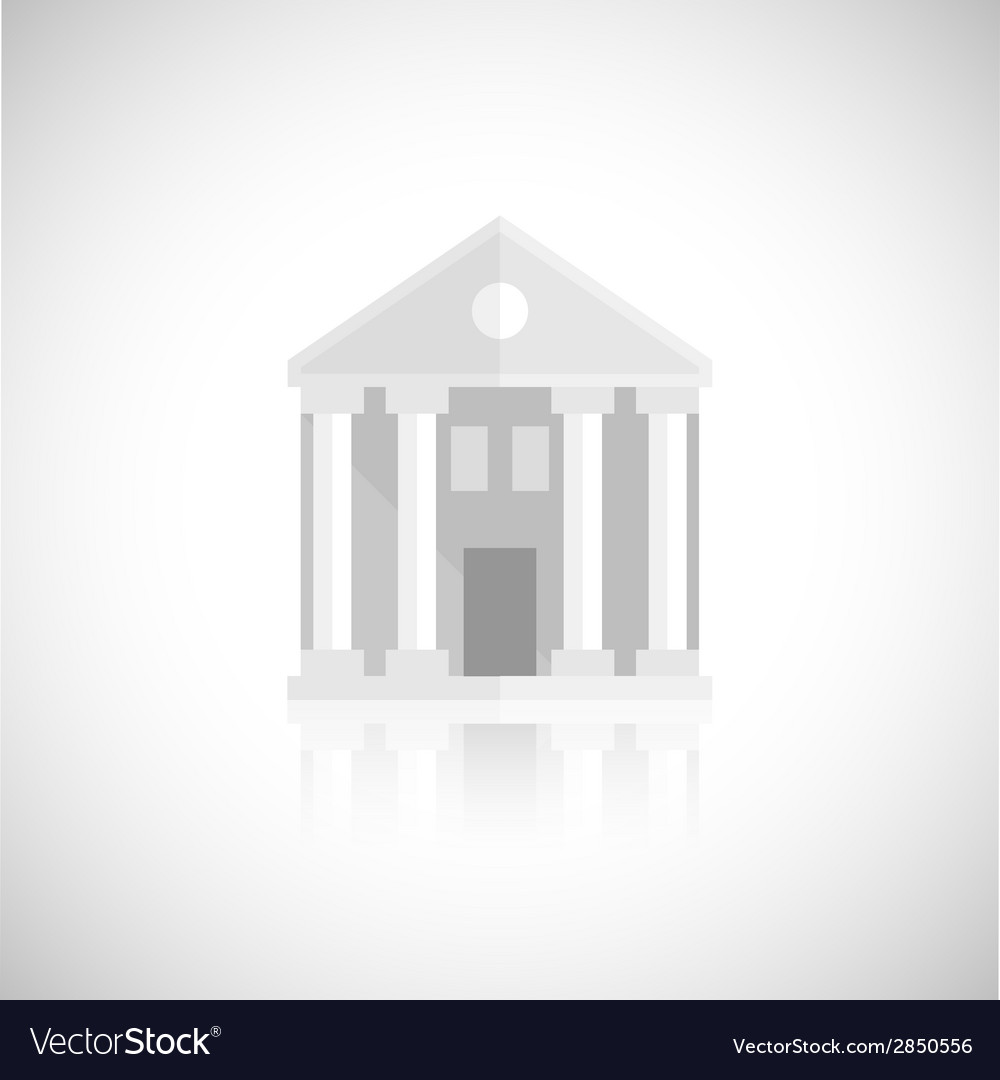 Museum building icon vector | Price: 1 Credit (USD $1)