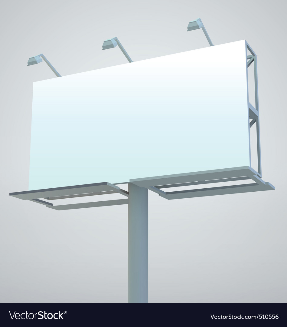Outdoor blank billboard vector | Price: 1 Credit (USD $1)