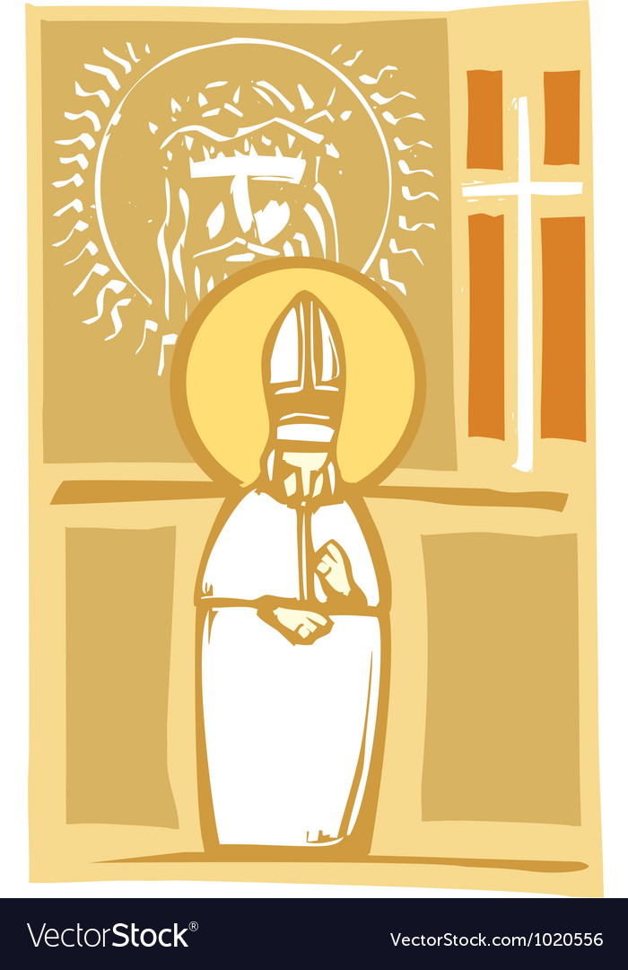 Pope and christian images vector | Price: 1 Credit (USD $1)