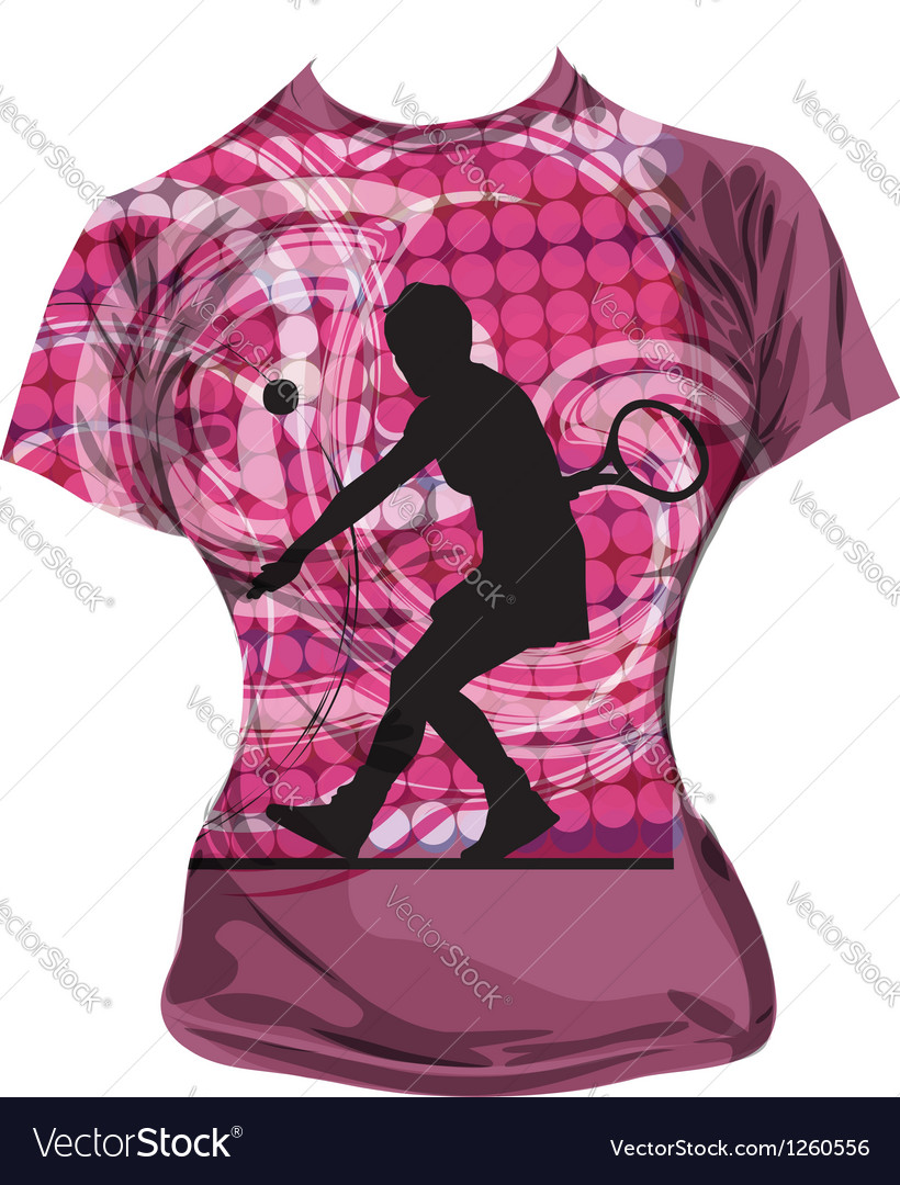 Tennis t-shirt vector | Price: 1 Credit (USD $1)