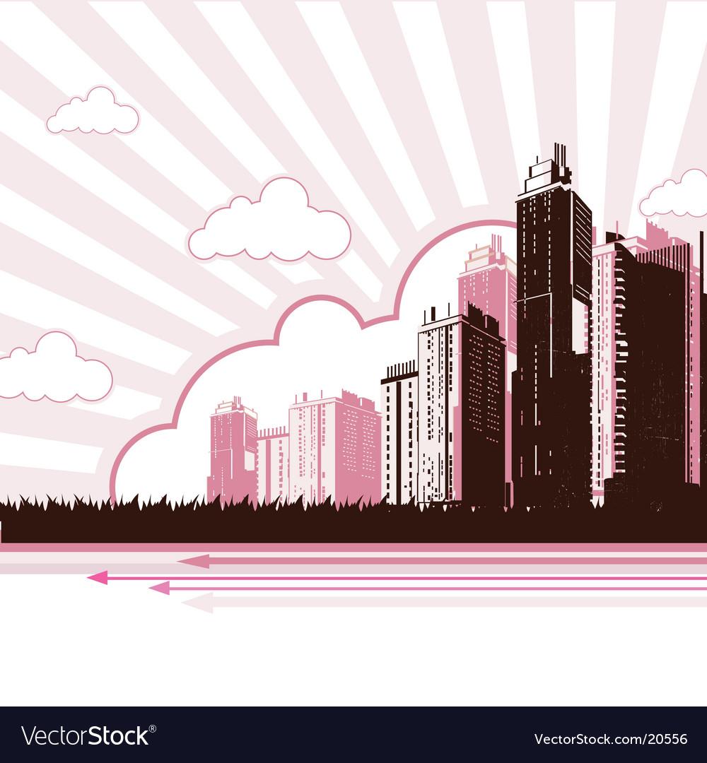 Urban city design vector | Price: 1 Credit (USD $1)