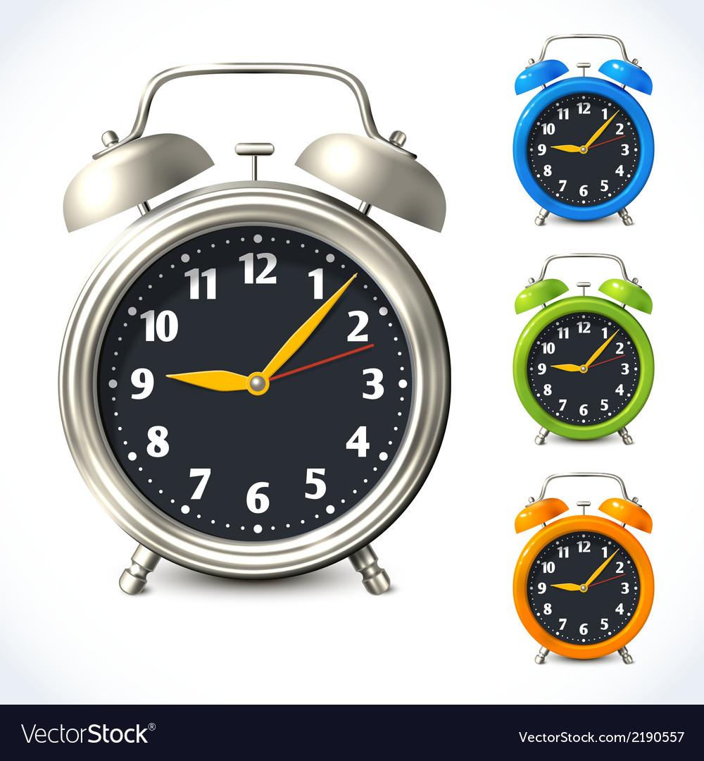 Alarm clock set vector | Price: 1 Credit (USD $1)