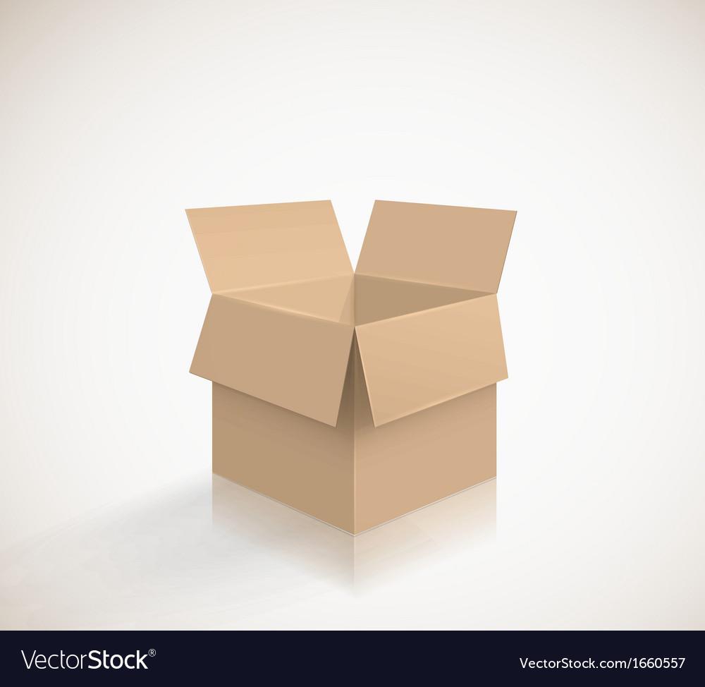 Carton box vector | Price: 1 Credit (USD $1)