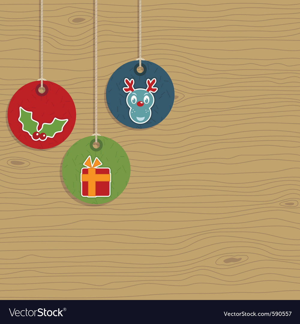 Christmas party hanging tags vector | Price: 1 Credit (USD $1)