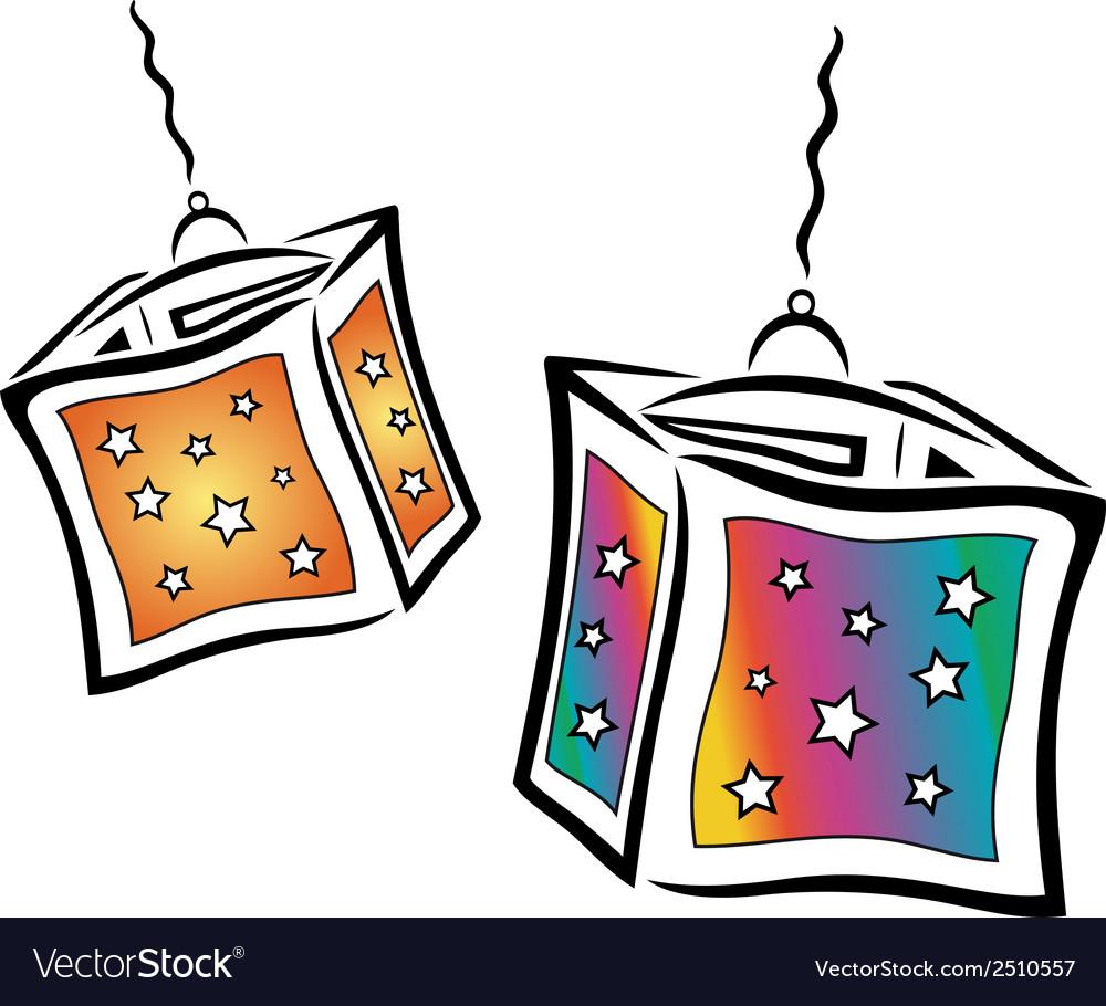 Colorful lanterns vector | Price: 1 Credit (USD $1)