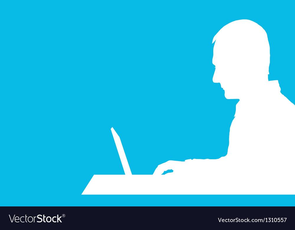 Computer man vector | Price: 1 Credit (USD $1)
