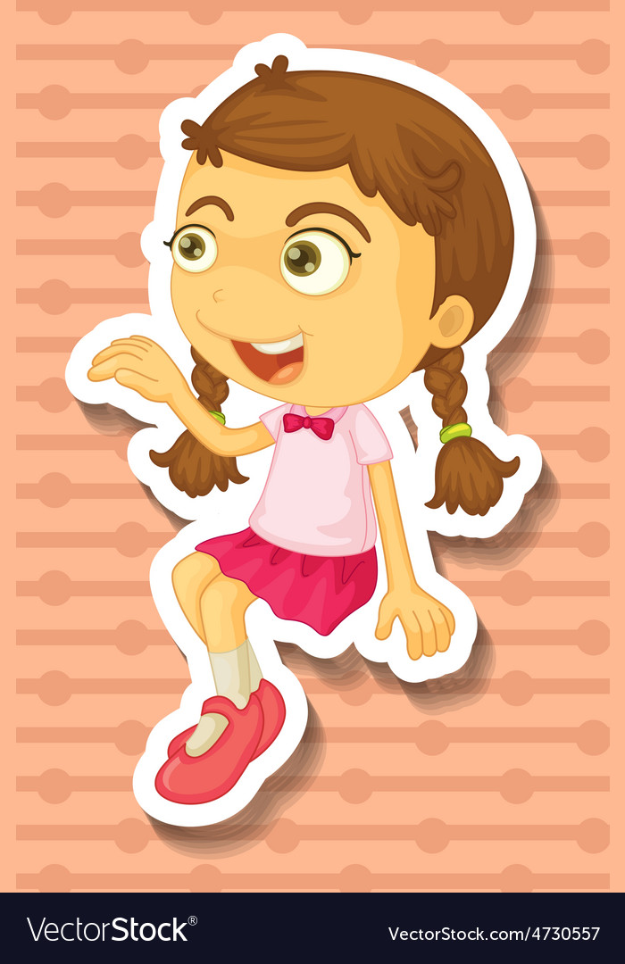 Cute girl vector | Price: 1 Credit (USD $1)