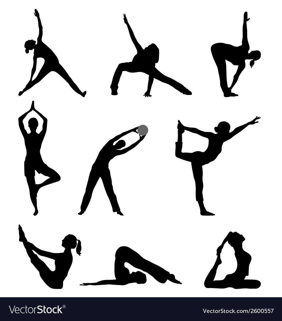 Fitness and yoga vector | Price: 1 Credit (USD $1)