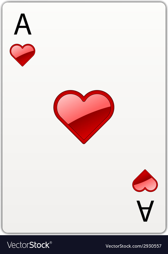 Heart ace vector | Price: 1 Credit (USD $1)