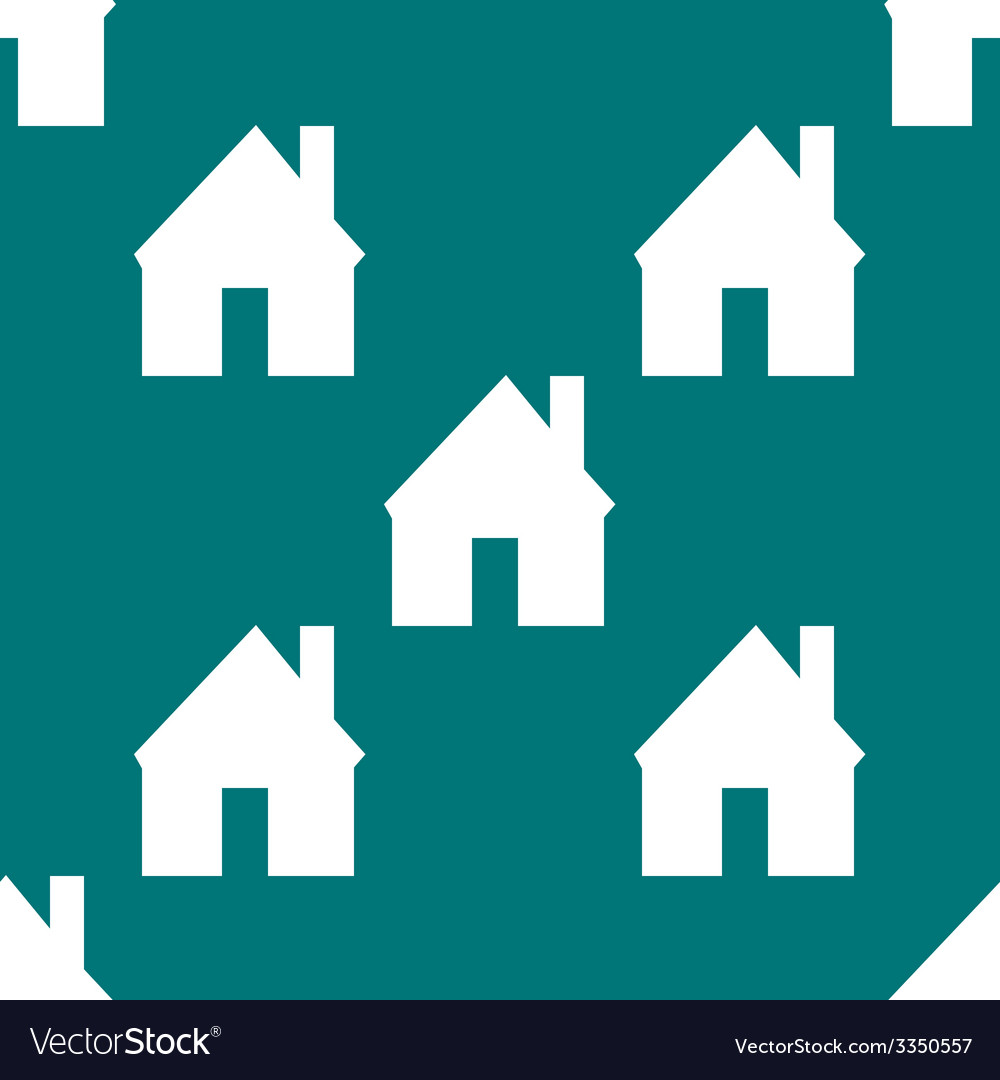 Home web icon flat design seamless pattern vector | Price: 1 Credit (USD $1)