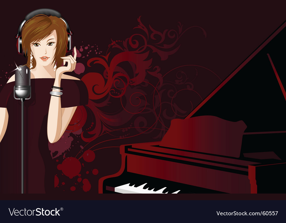 Jazz singer vector | Price: 5 Credit (USD $5)