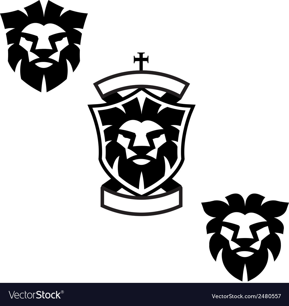 Lion heads vector | Price: 1 Credit (USD $1)