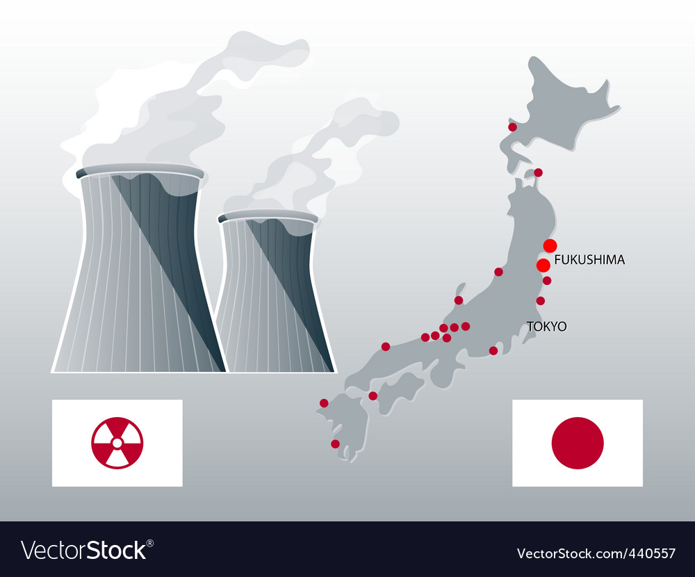 Nuclear japan vector | Price: 1 Credit (USD $1)