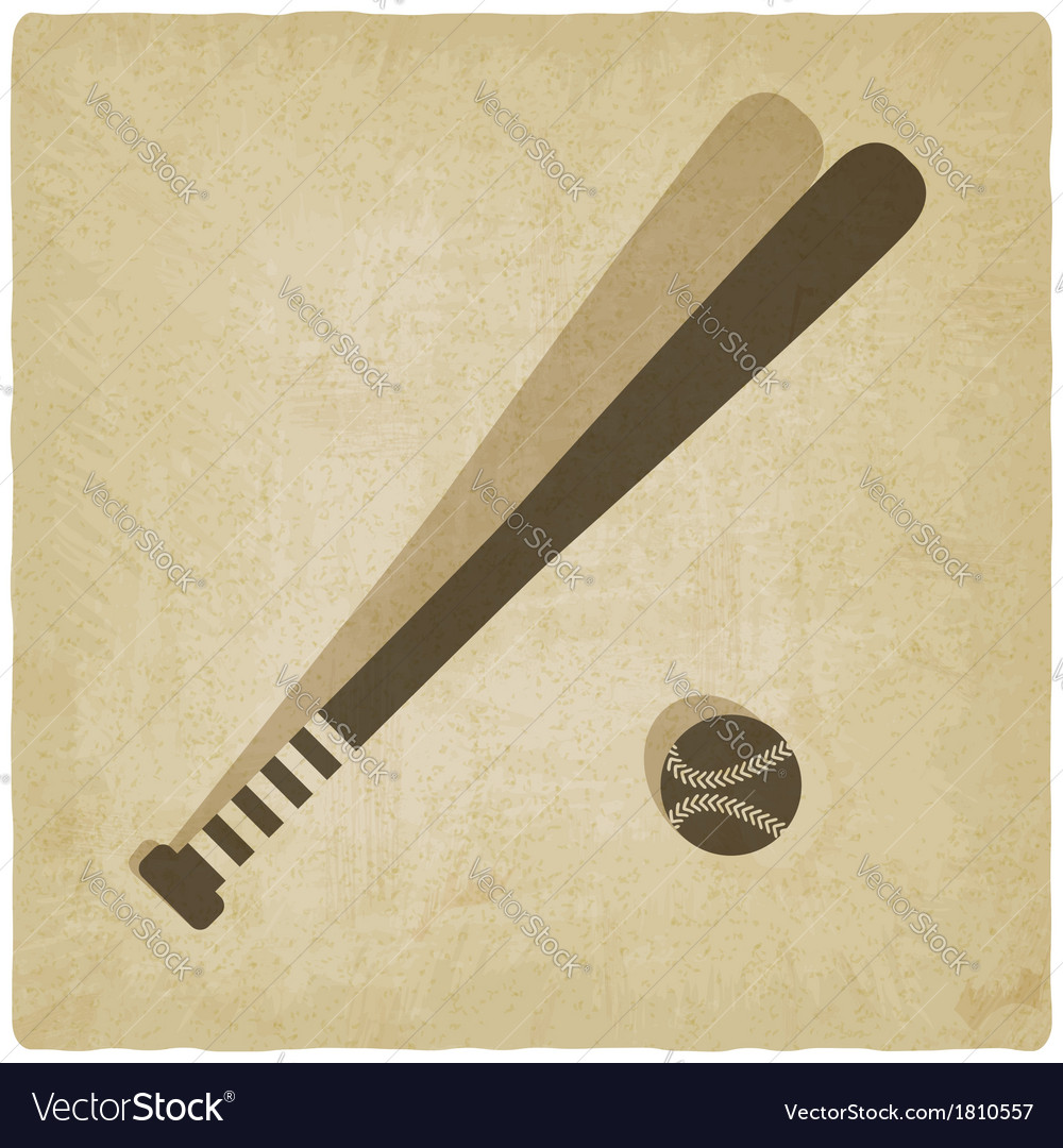 Sport baseball logo old background vector | Price: 1 Credit (USD $1)