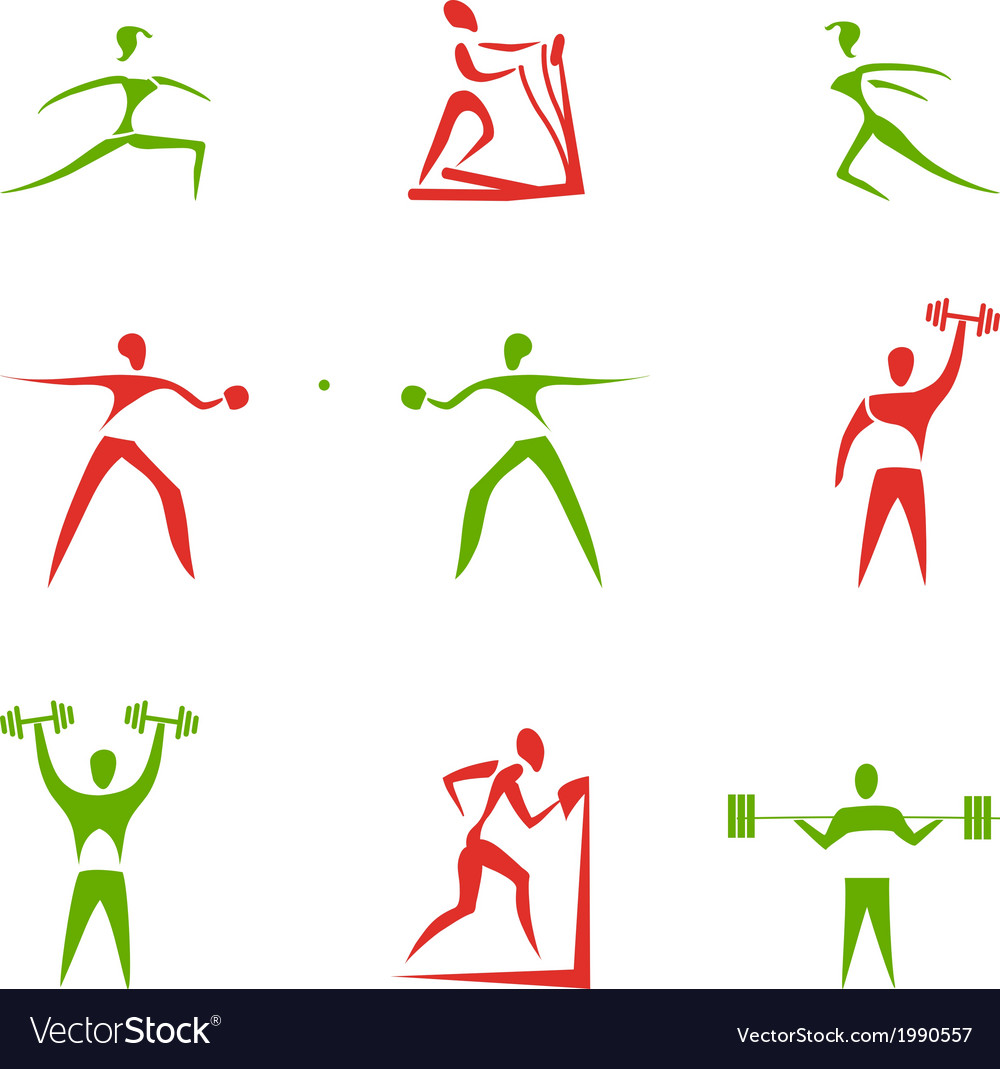 Sport figures vector | Price: 1 Credit (USD $1)