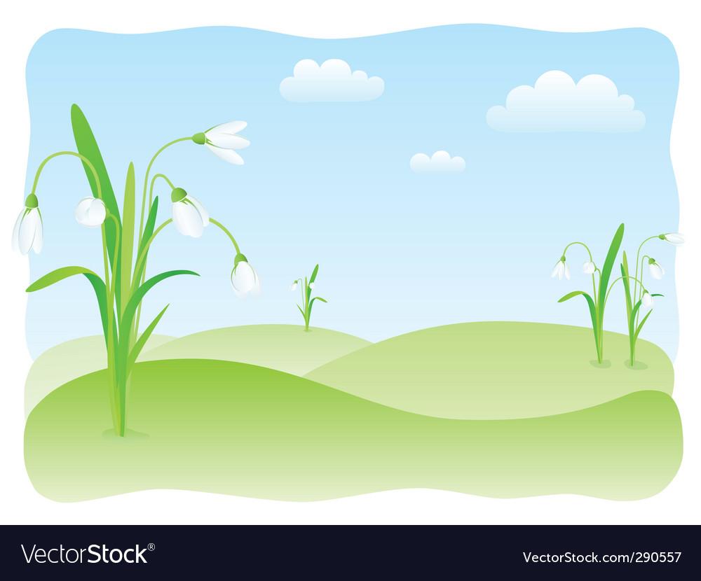 Spring landscape vector | Price: 3 Credit (USD $3)
