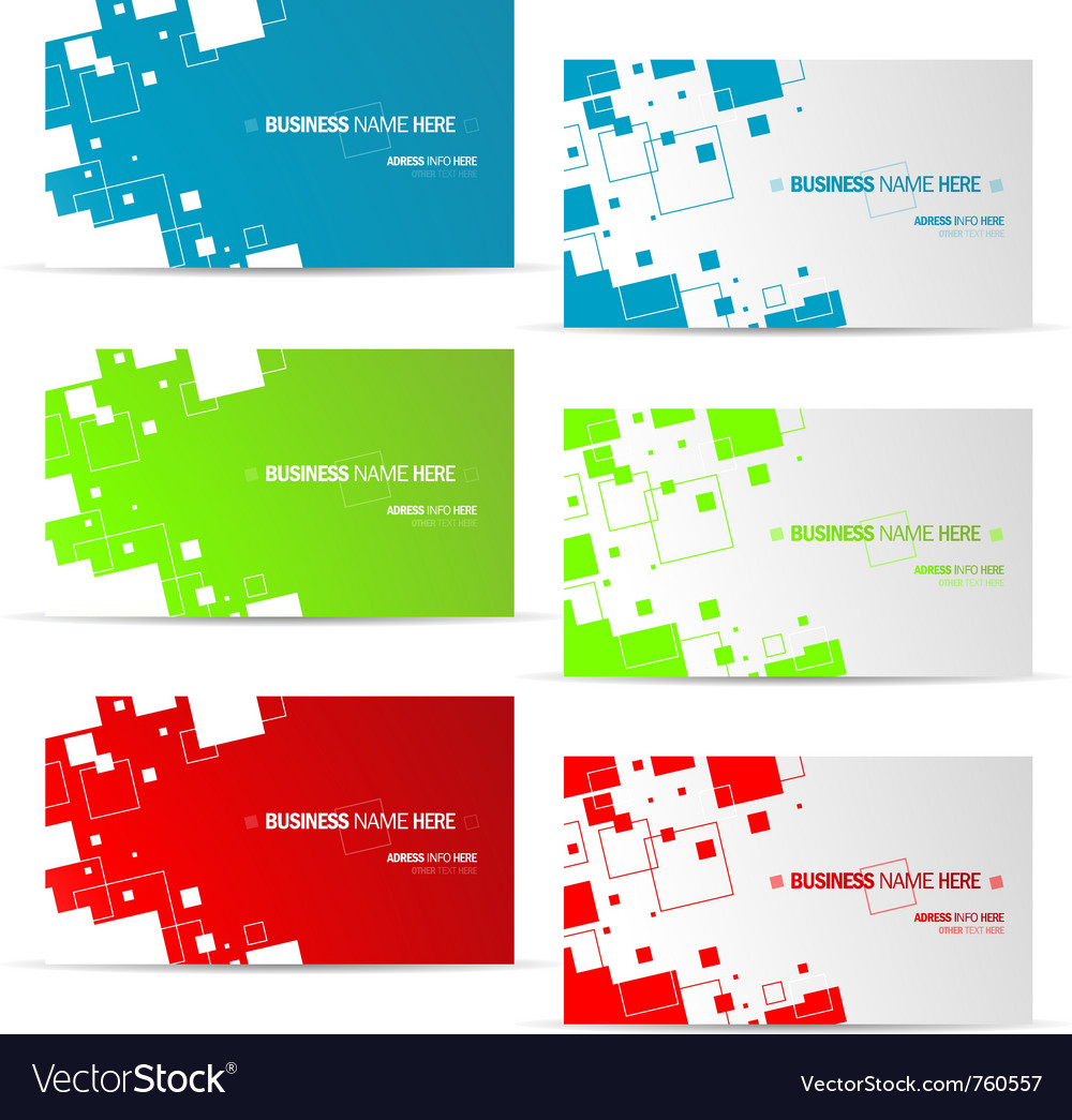 Various business card design vector | Price: 1 Credit (USD $1)