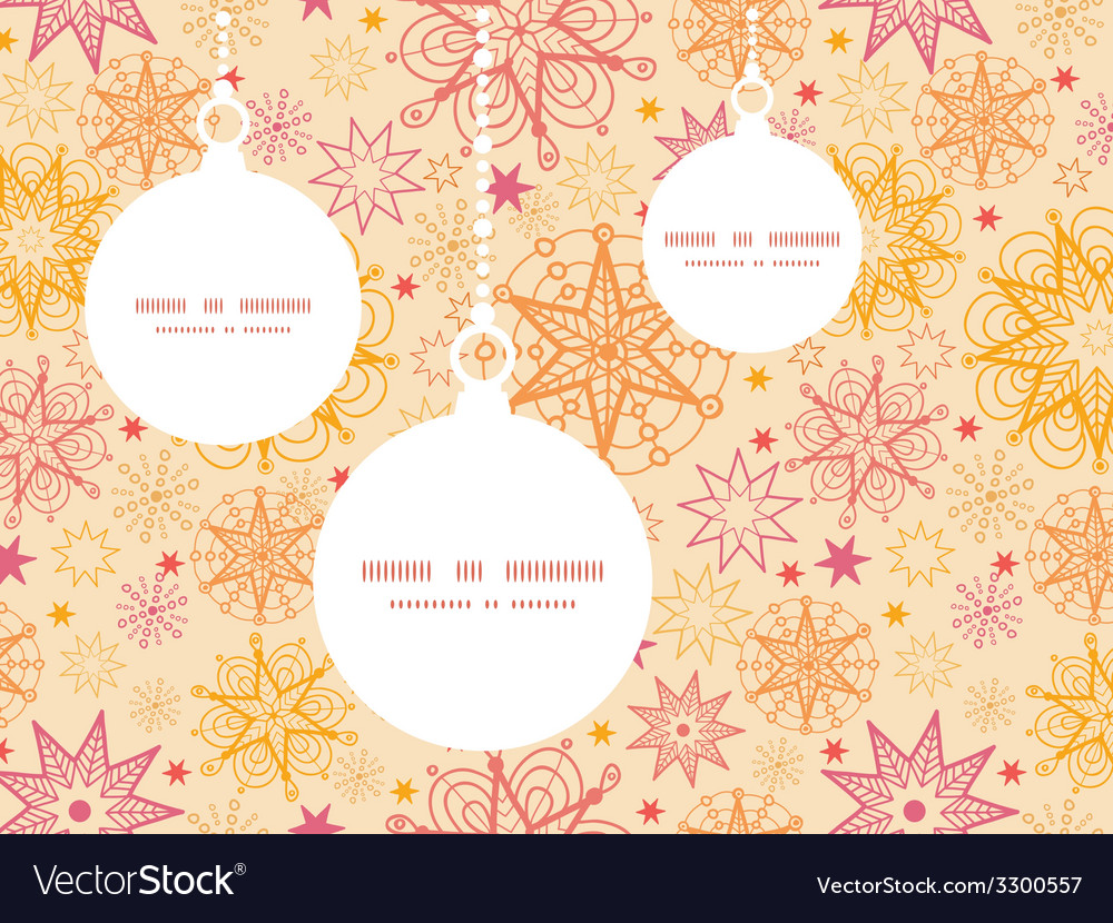 Warm stars christmas ornaments silhouettes pattern vector | Price: 1 Credit (USD $1)