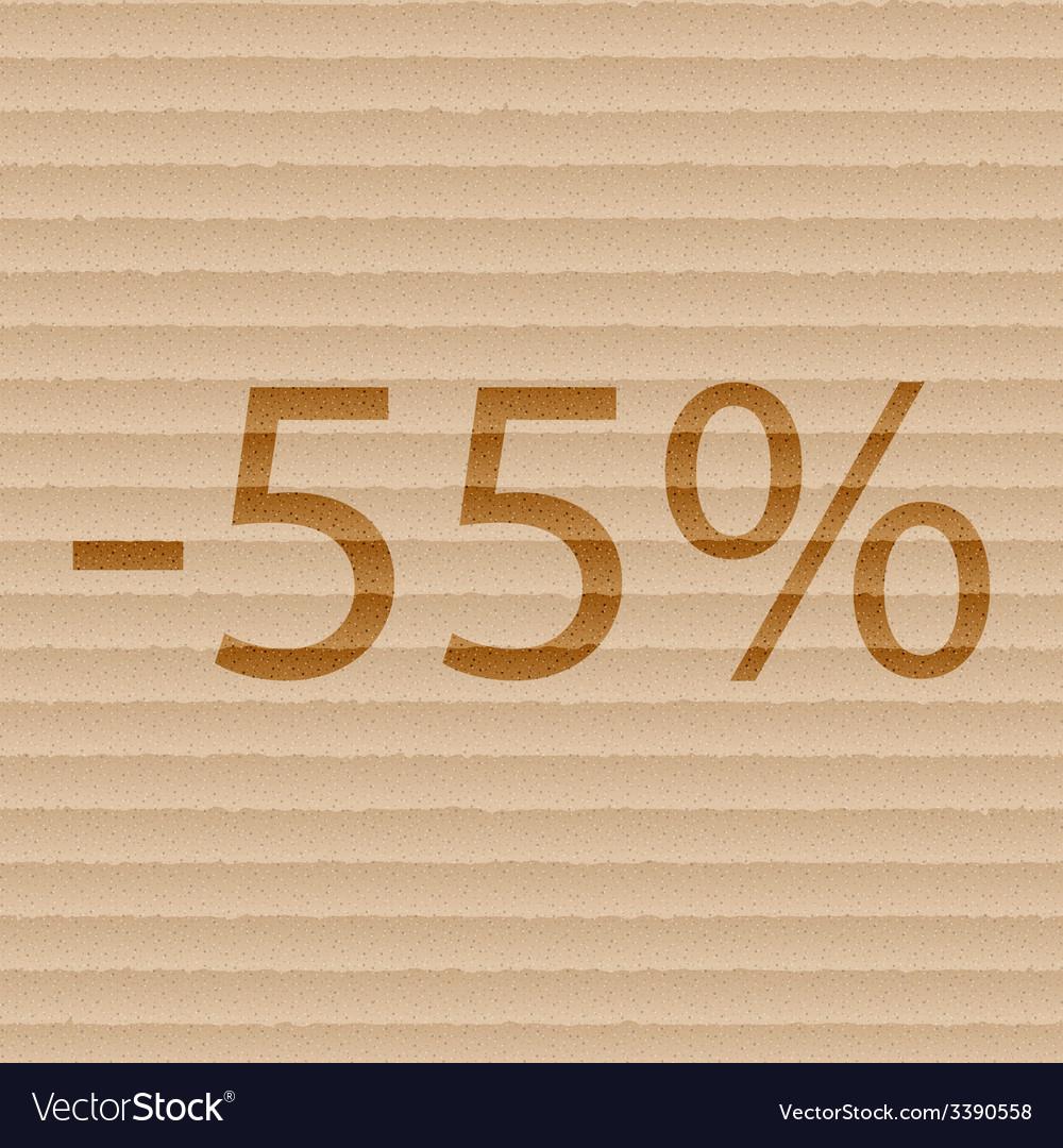 55 percent discount icon symbol flat modern web vector | Price: 1 Credit (USD $1)