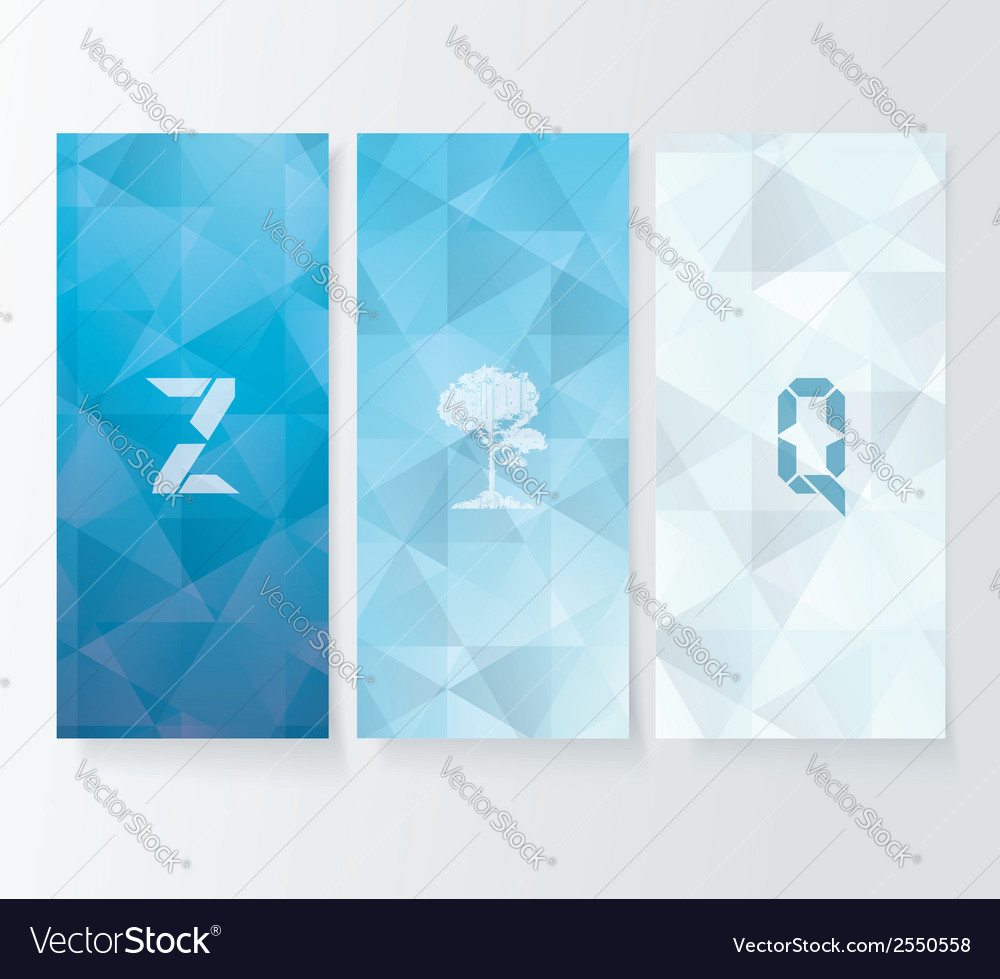 Abstract cover blue background banners set vector | Price: 1 Credit (USD $1)