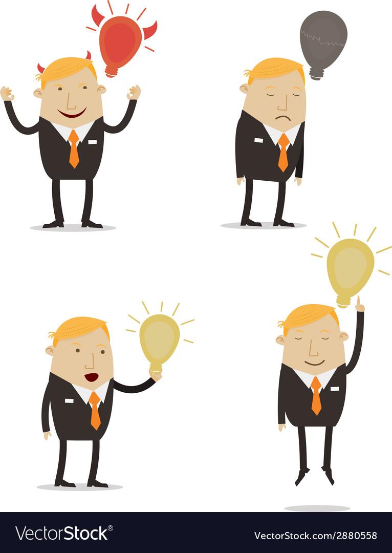 Businessman with idea vector | Price: 1 Credit (USD $1)