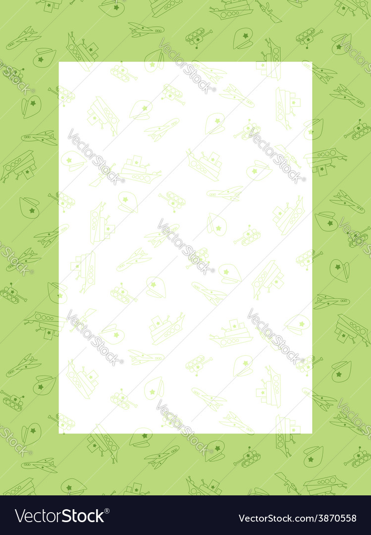 Congratulation greeting card 23 february the day vector | Price: 1 Credit (USD $1)