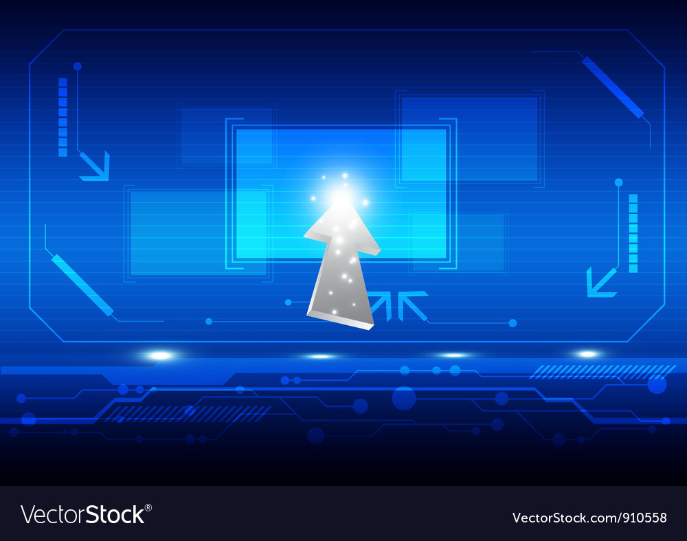 Cursor click button on screen vector   Price: 1 Credit (USD $1)