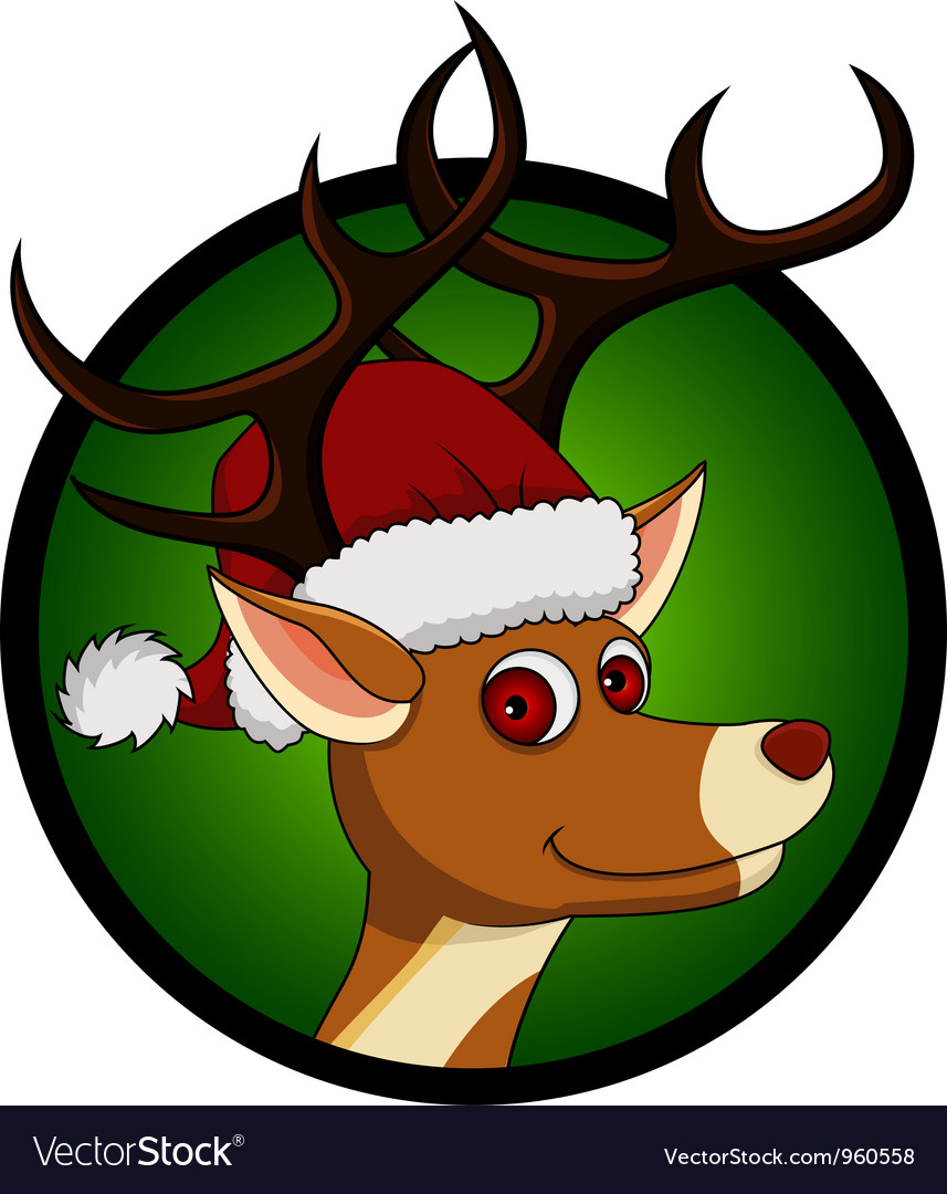 Deer head cartoon vector | Price: 1 Credit (USD $1)