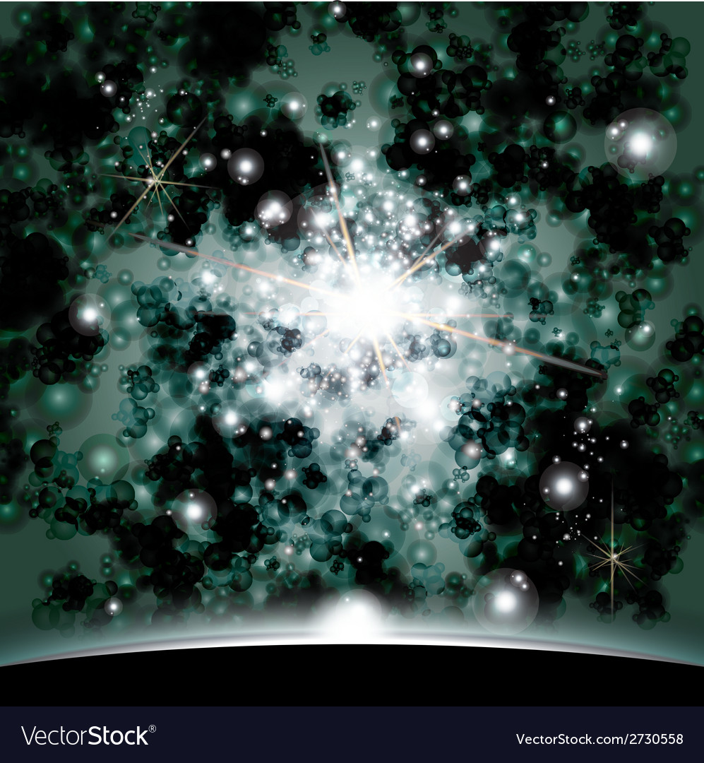 Earth and galaxy elements of this image furnished vector | Price: 1 Credit (USD $1)