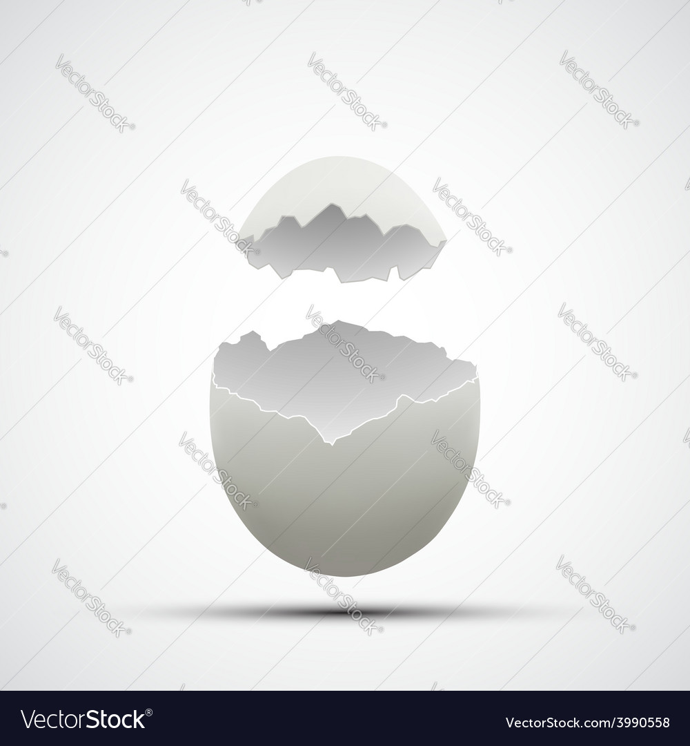 Icons broken chicken egg vector | Price: 1 Credit (USD $1)