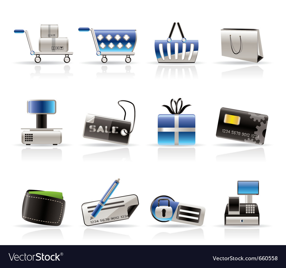 Online shop icons vector   Price: 1 Credit (USD $1)