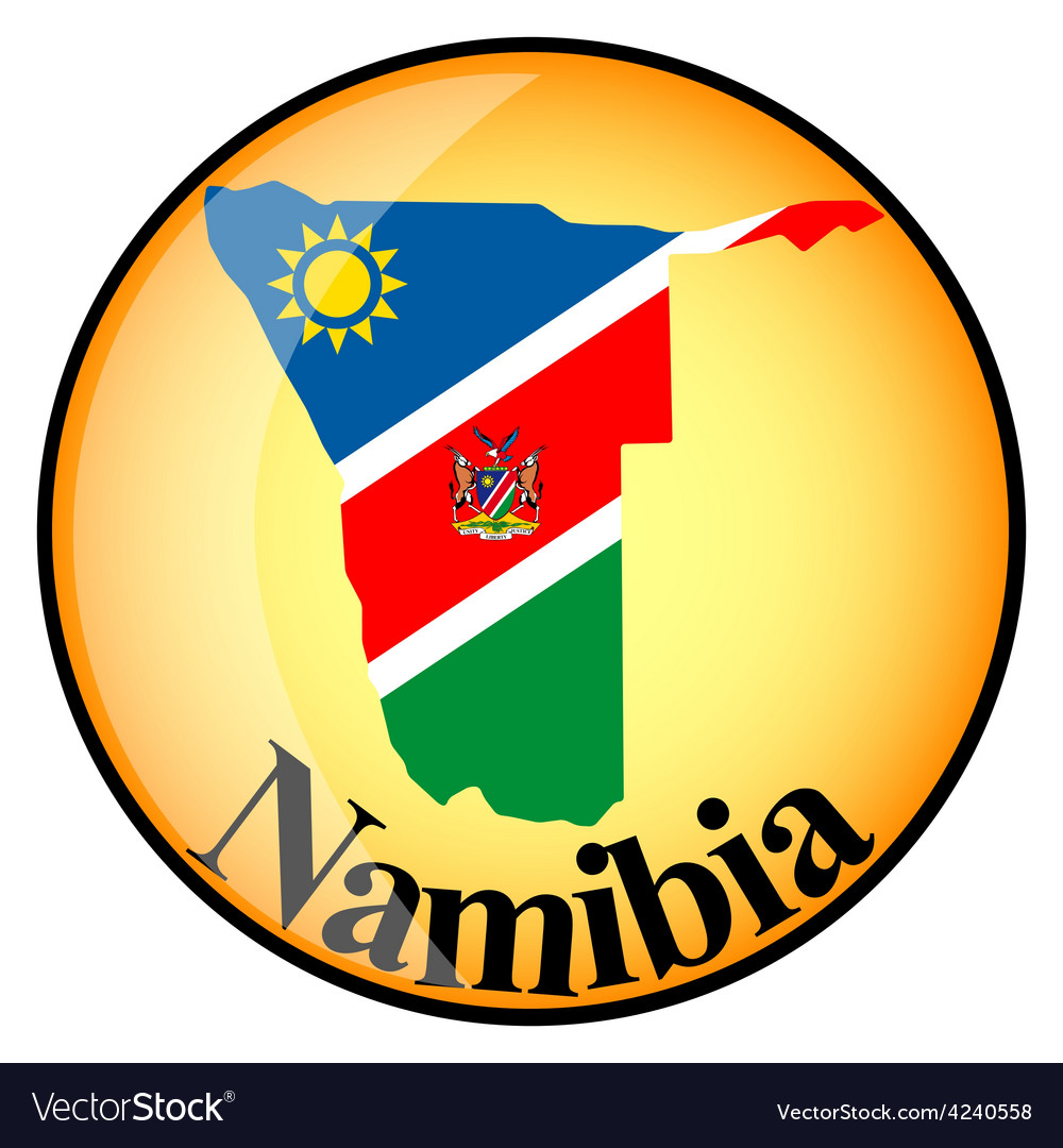 Orange button with the image maps of namibia vector | Price: 1 Credit (USD $1)