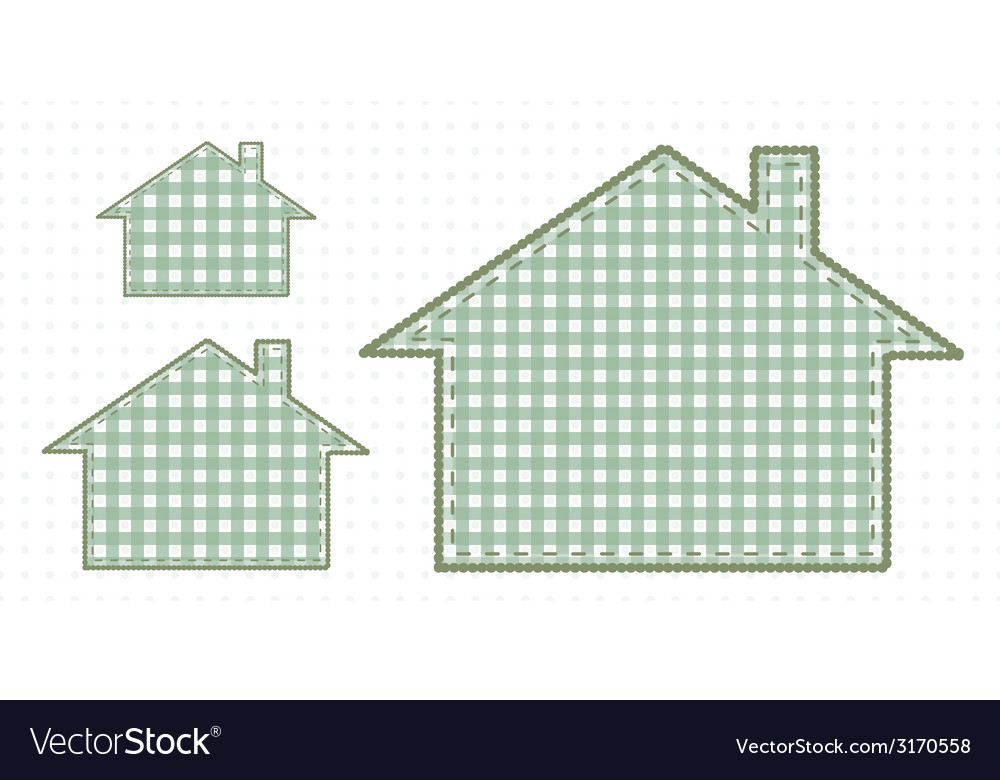 Several houses of fabric cute baby style vector | Price: 1 Credit (USD $1)