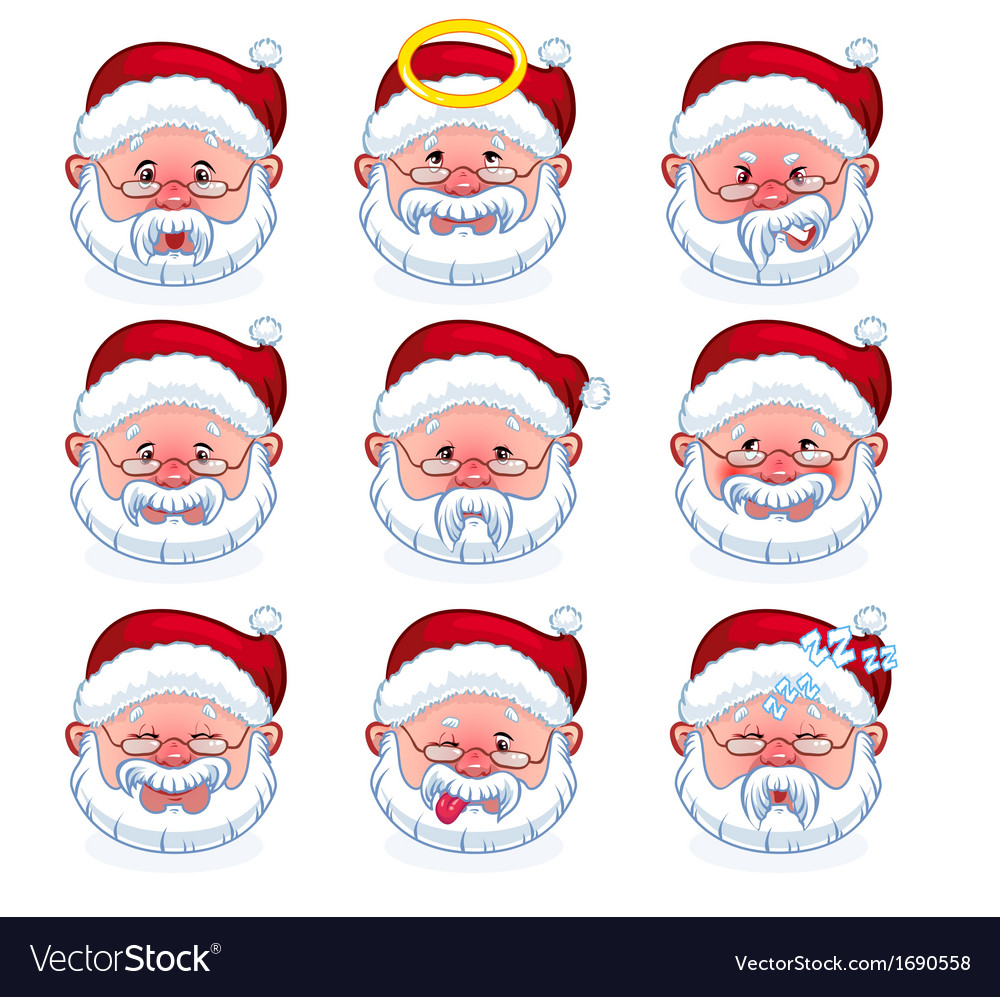 Smilies santa claus vector | Price: 1 Credit (USD $1)