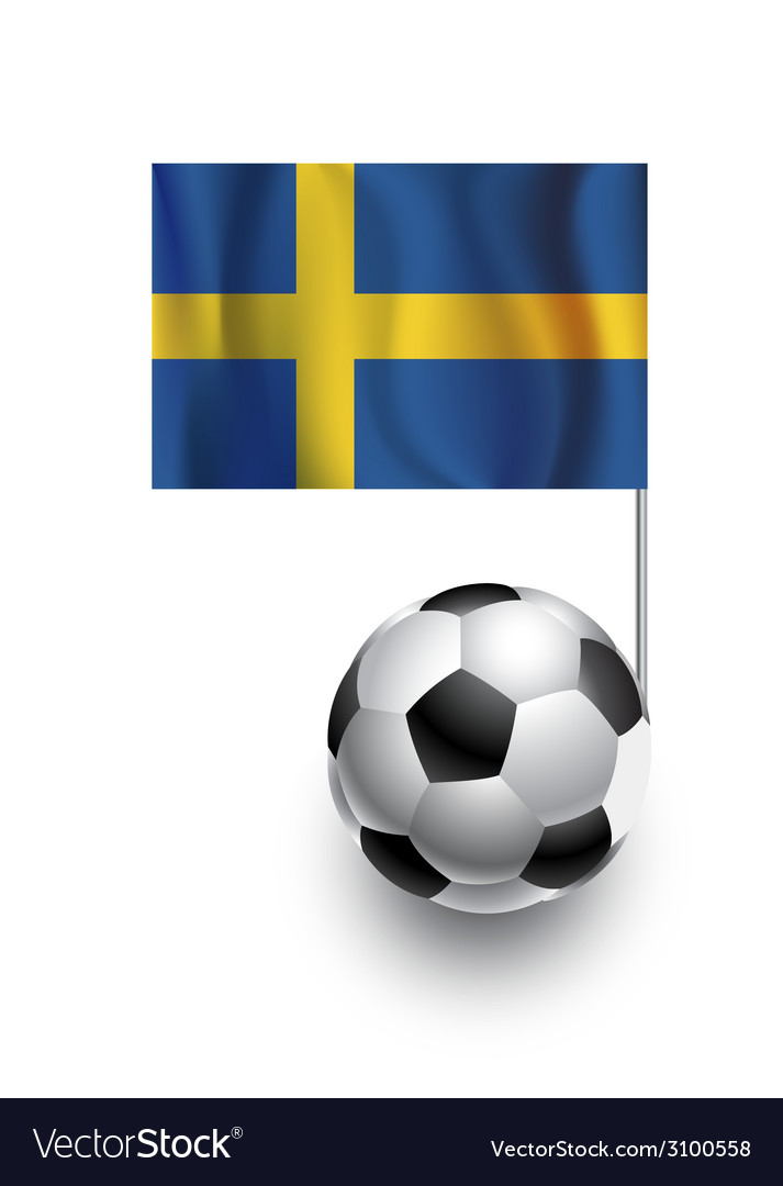 Soccer balls or footballs with flag of sweden vector | Price: 1 Credit (USD $1)