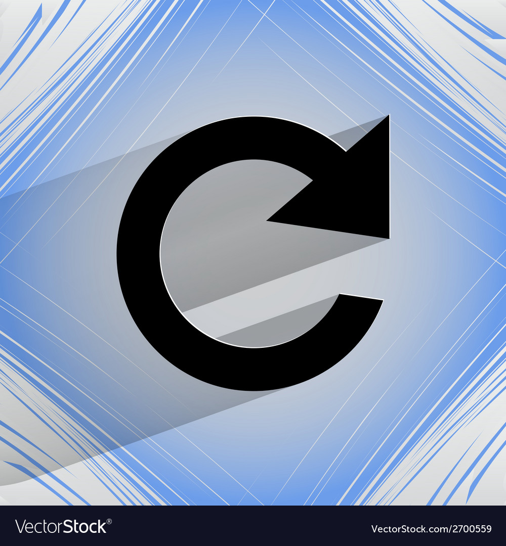 Arrow update flat modern web design on a flat vector   Price: 1 Credit (USD $1)