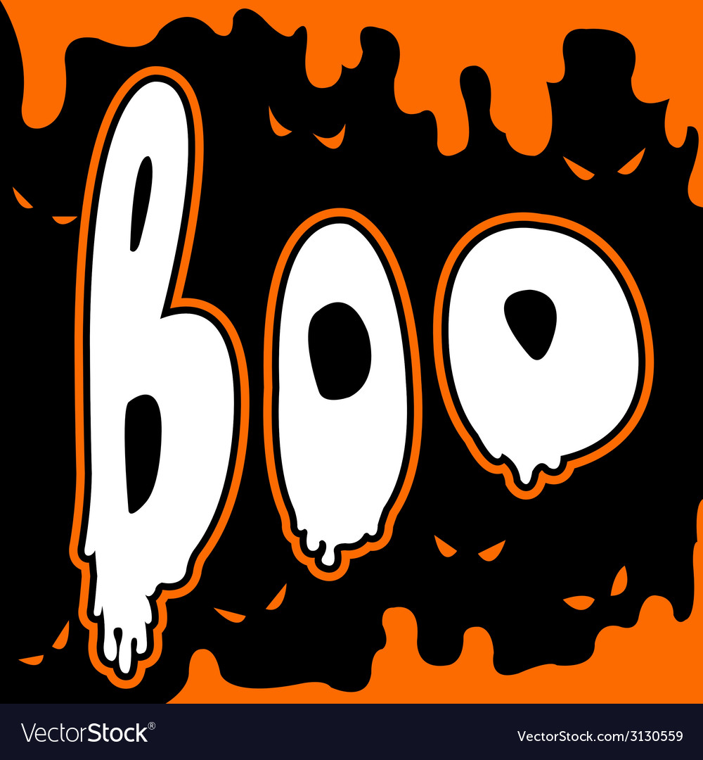 Boo card vector | Price: 1 Credit (USD $1)