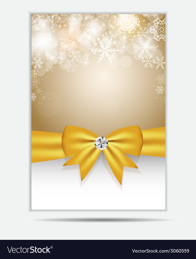 Christmas snowflakes website banner and card vector | Price: 1 Credit (USD $1)